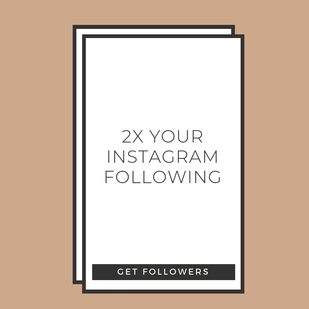 double your instagram following for photographers