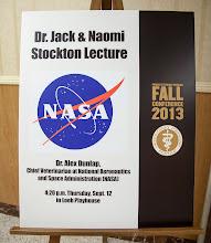 Photo: Dr. Stockton Lecture