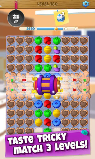 Wonder Chef: Match-3 Puzzle Game - screenshot