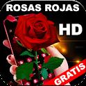 Rosas Rojas Bonitas y Naturales en HD Gratis icon