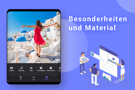 Video Maker von Fotos mit Music & Video Editor screenshot 10