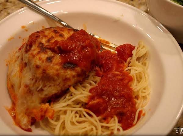 Eggplant Parmesan With Angel Hair Pasta Recipe