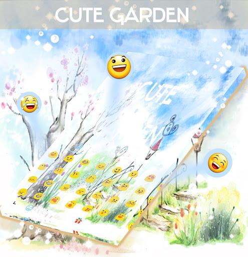 無料个人化Appの可愛いガーデンキーボードのテーマ|記事Game