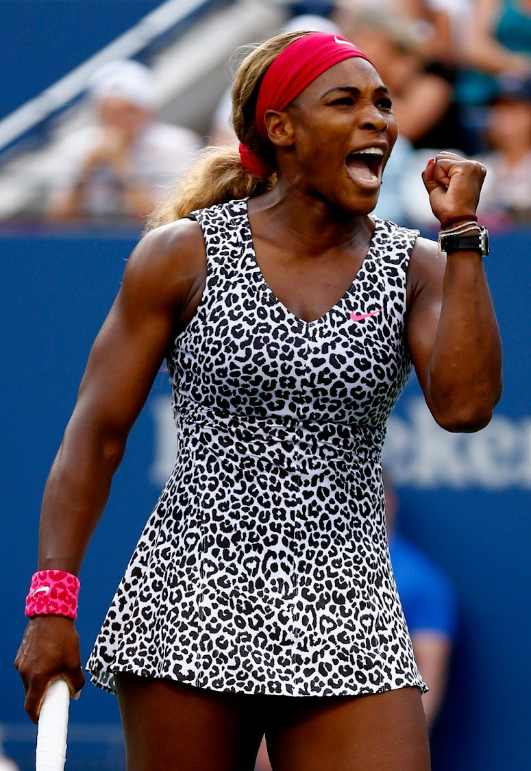 Serena Williams at the 2014 US Open finals in New York. (Photo by Julian Finney/Getty Images)