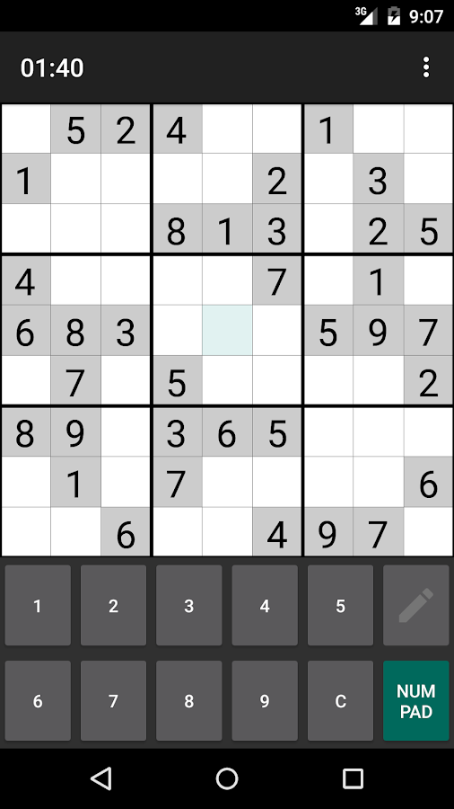 Open Sudoku- screenshot