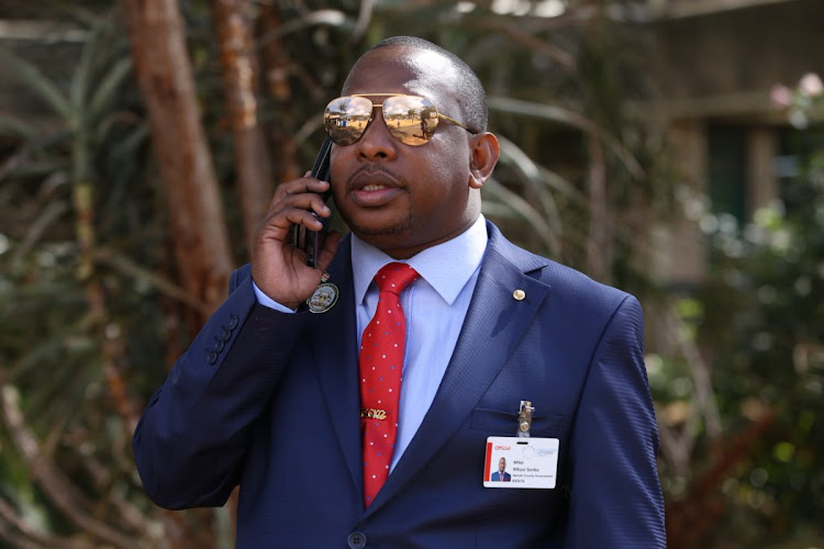 Former Nairobi Governor Mike Sonko during the 4th session of the United Nations Environment Assembly in Gigiri on March 14, 2019