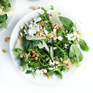 Shaved Apple Salad with Maple Sesame Dressing.