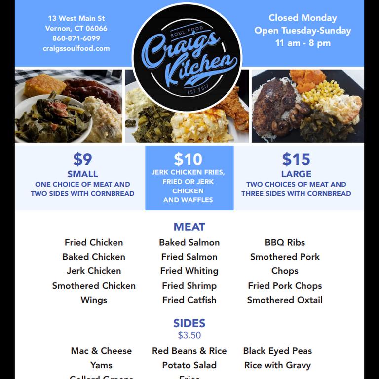 Craig S Kitchen Soul Food Restaurant In Vernon