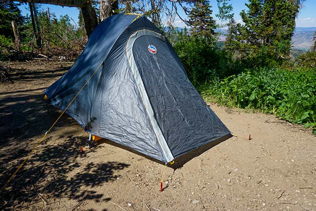 Fly Creek HV UL2 Bikepack Tent with rain fly in the woods