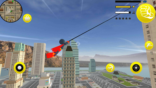 Superhero Stickman Rope Hero Gangstar Crime Mafia 2