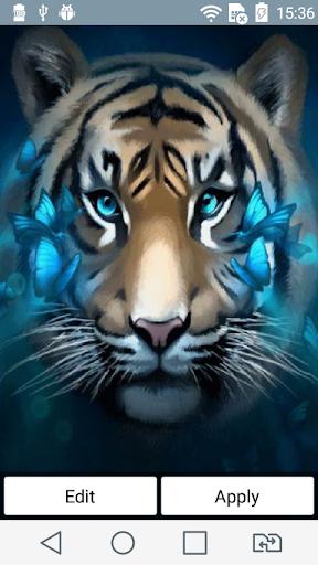 Tiger en face live wallpaper