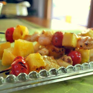 Shrimp and Pineapple Kabobs.