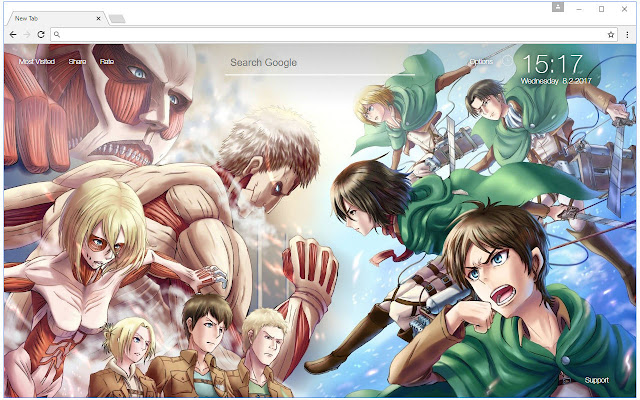 Shingeki No Kyojin Wallpaper Hd Custom Newtab