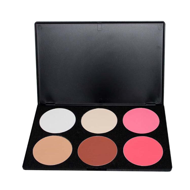 Pro 6 color makeup Face foundation pressed Powder palette Cosmetics sets by Supermodels Secrets