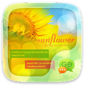 (FREE) GO SMS SUNFLOWER THEME