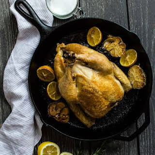 Garlic Lemon Rosemary Roasted Chicken.