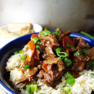 Mongolian Beef in the Slow Cooker.