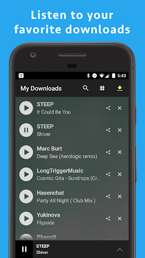 MP3 Music Download Hunter by Tuneself: Apps to stream