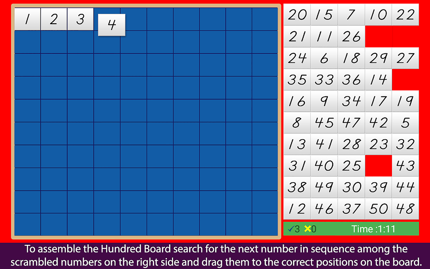 Montessori Hundred Board 1-100- screenshot