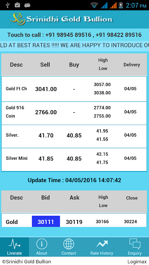 Srinidhi Gold Bullion- screenshot