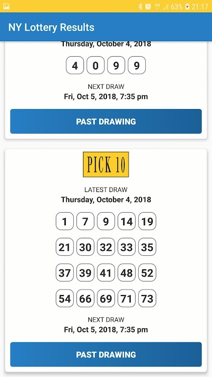 New York Lottery Results – (Android Apps) — AppAgg