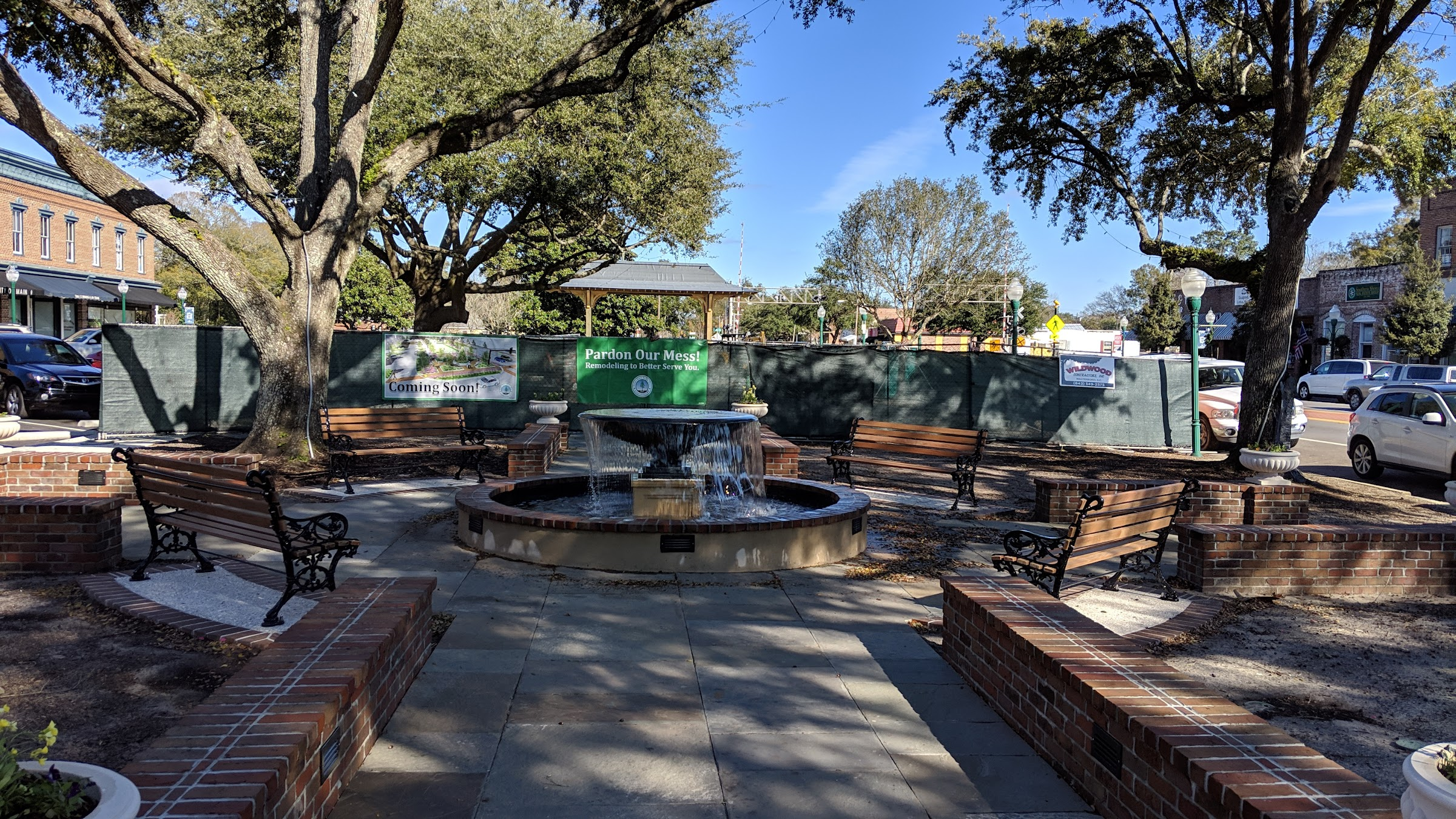Summerville city center park coming along nicely