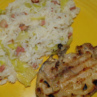 Rice With Bacon And Cabbage.
