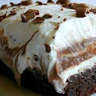 Brownie Refrigerator Cake.