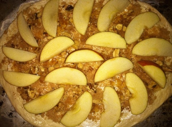 Walnuts and apple slices