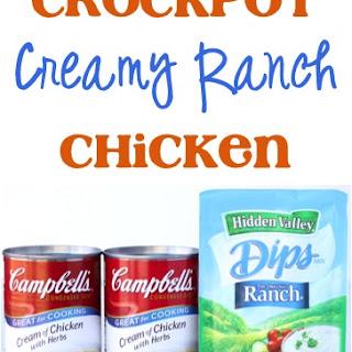Crockpot Creamy Ranch Chicken Recipe!