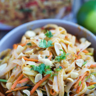 Thai Peanut Rice Noodles