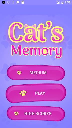 CUTE CATS Memory matching Game 1.73.1 screenshots 1