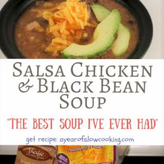 Salsa Chicken and Black Bean Soup.