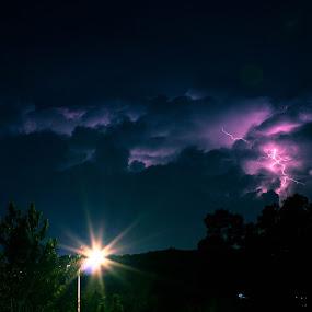 lightning strike by Putu Anggara - Landscapes Weather ( lightning, wheater, nightscape )