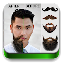 Man Hair Mustache Style Free icon