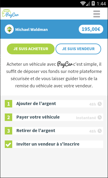 PayCar- screenshot