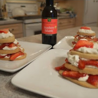 How to Make Strawberry Balsamic Shortbread Hearts with Berries and Whipped Cream Recipe