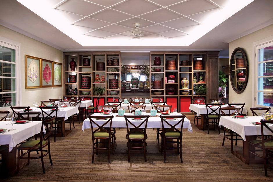Restoran Meradelima di bilangan Senopati, Jakarta Selatan dengan desain interior Cina Peranakan - source: sugarandcream.co