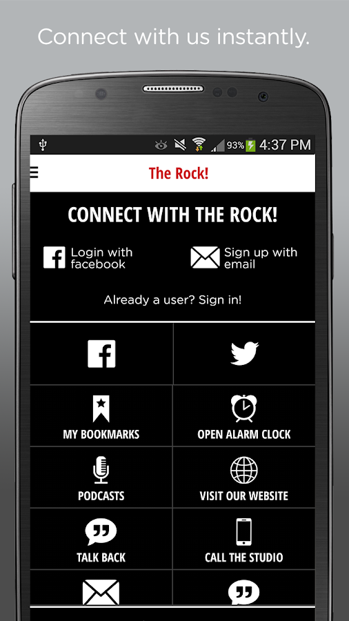 KQRC 98.9 The Rock- screenshot