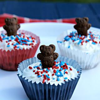 Patriotic No Bake Mini Cheesecakes