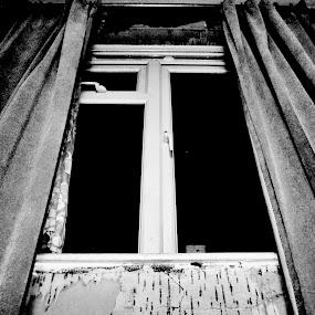 Darkness Approaching by Amy-louise Maszuchin - Artistic Objects Still Life ( mystery, window, darkness, horror, black )