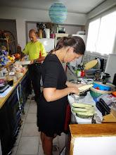 Photo: Vendredi soir chez Caroline, préparation du diner et du Banofi !