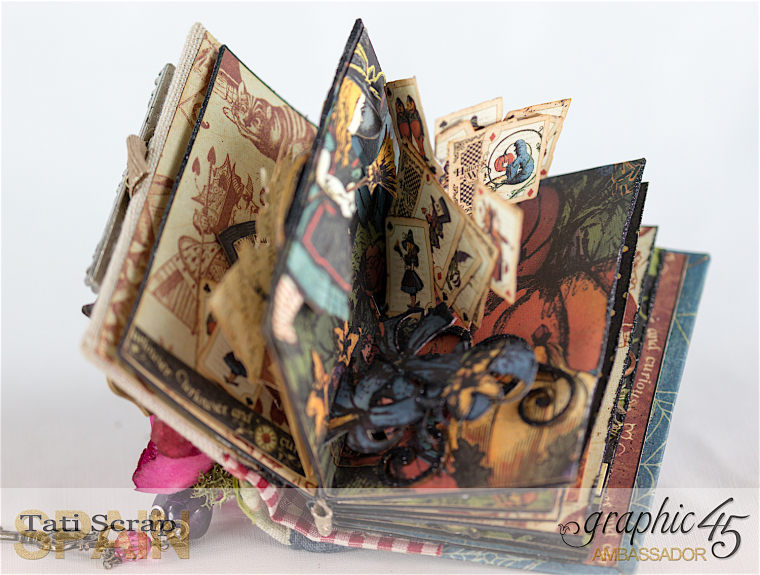 Tati, Hallowe'en in Wonderland - Deluxe Collector's Edition, Pop-Up Book, Product by Graphic 45, Photo 16