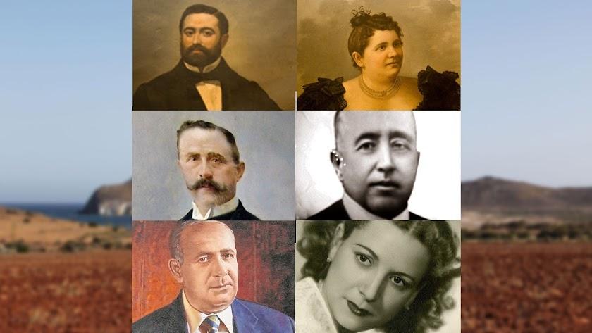Felipe Vilches, Josefa Montoya, José González Canet, Antonio González Egea, José González Montoya y Francisca Díaz.