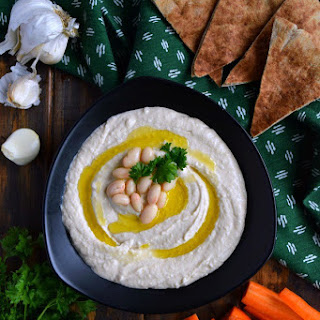 Roasted Garlic White Bean Hummus.