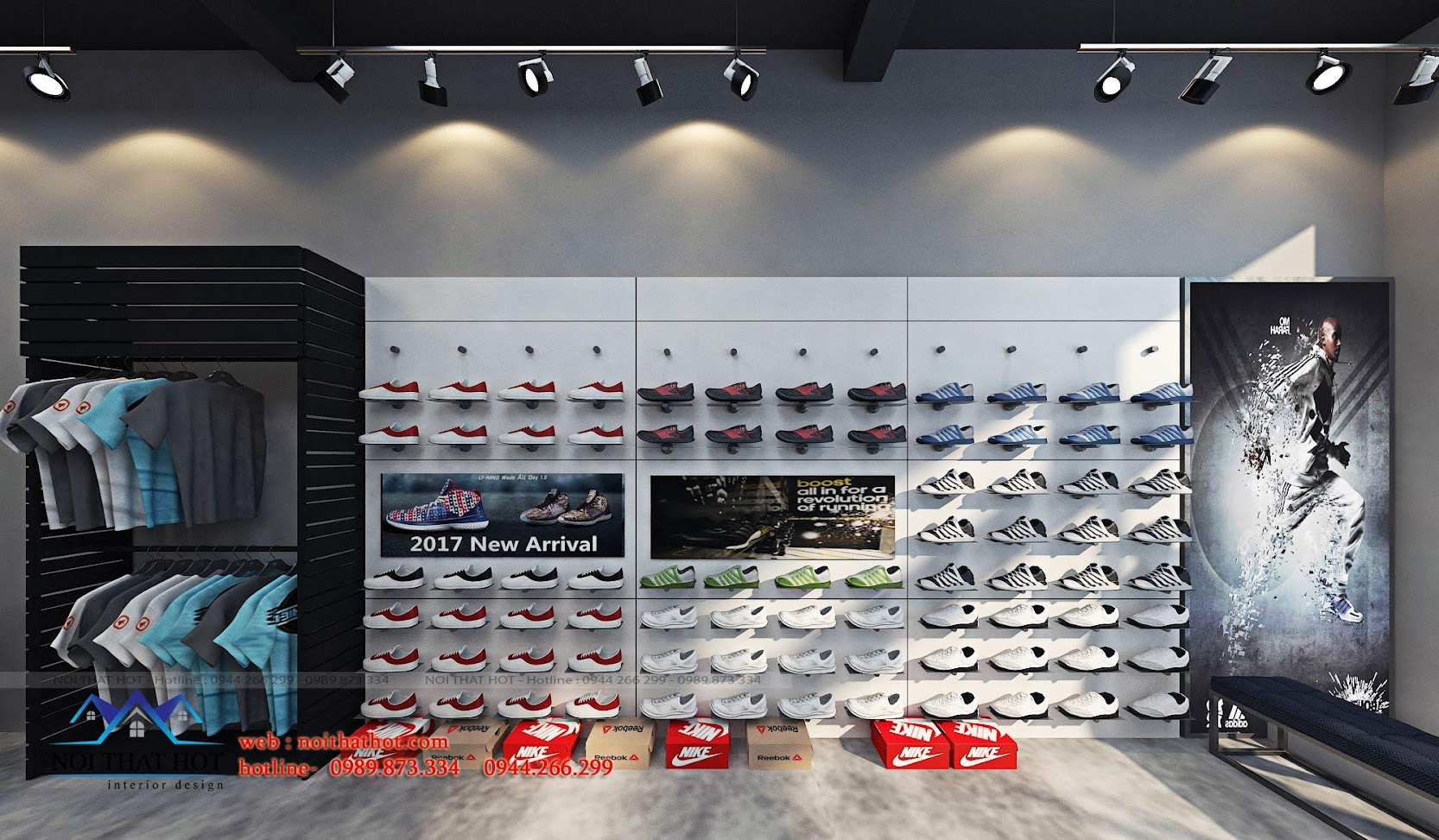 thiết kế shop thời trang adidas 4