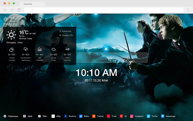 Harry Potter Pop Movie HD  New Tabs Theme