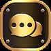 Luxury Golden SMS - Default SMS&Phone handler icon