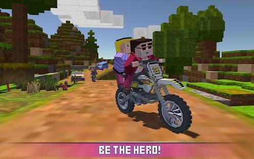 Blocky Motorbike SIM 2017 imagem do Jogo
