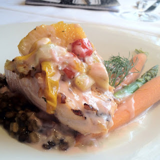 Grilled Verlasso Salmon with Blood Orange Beurre Blanc By Chef Dan Bauer